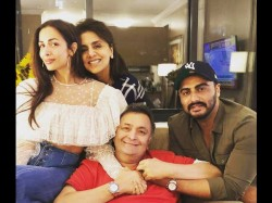 Arjun Kapoor And Malaika Arora Met Rishi Kapoor In New York
