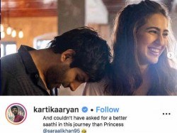 Sara Ali Khan Kartik Aaryan Share Notes For Each Other Ranveer Singh Takes The Credit