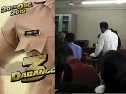 Salman Khan S Dabangg 3 To Have An Extensive Courtroom Scene