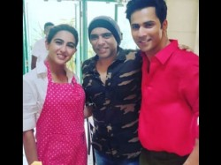 First Look Varun And Sara Looking Awesome In Coolie No 1 Shooting Set