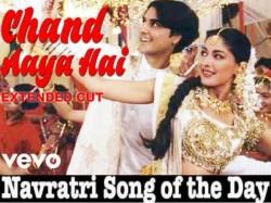 Navratri Song Of The Day Chand Aaya Hai Zamin Par Bollywood Garba Dandiya Songs For Navratri