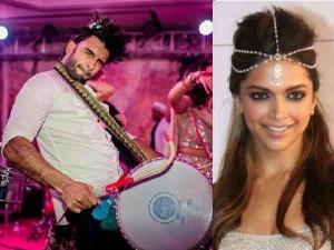 दीपिका - रणवीर का धमाकेदार संगीत - ये गाना गाते हुए रणवीर सिंह ने मारी एंट्री