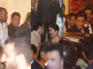 Isha Ambani Wedding Pics: ठहाके लगाती ऐश्वर्या, मुस्कुराते हुए शाहरूख - सलमान