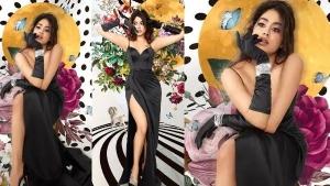 ब्लैक ड्रेस में जाह्नवी कपूर ने दिखाया बोल्ड अवतार, रेट्रो लुक में शेयर की सेक्सी तस्वीरें