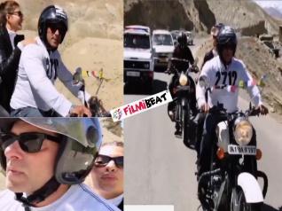 रेस 3: कारगिल से लेह तक सलमान खान ने जैकलिन के साथ दौड़ाई बाइक, video वायरल