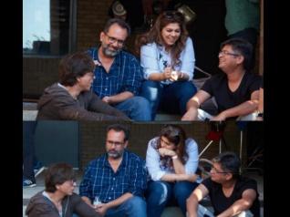 जीरो के सेट से फिर वायरल हुई तस्वीर, शाहरुख खान और आनंद एल राय आए नजर