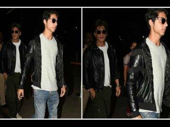 शाहरुख -आर्यन की ये तस्वीरें देखते रह जाएंगे आप..एक ही लुक में आए नजर