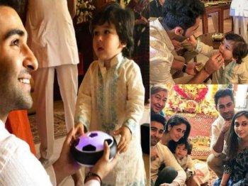 Pics & Videos गणेश महोत्सव में सब पर भारी पड़े तैमूर अली खान, क्यूट अदाएं बना देंगी दीवाना